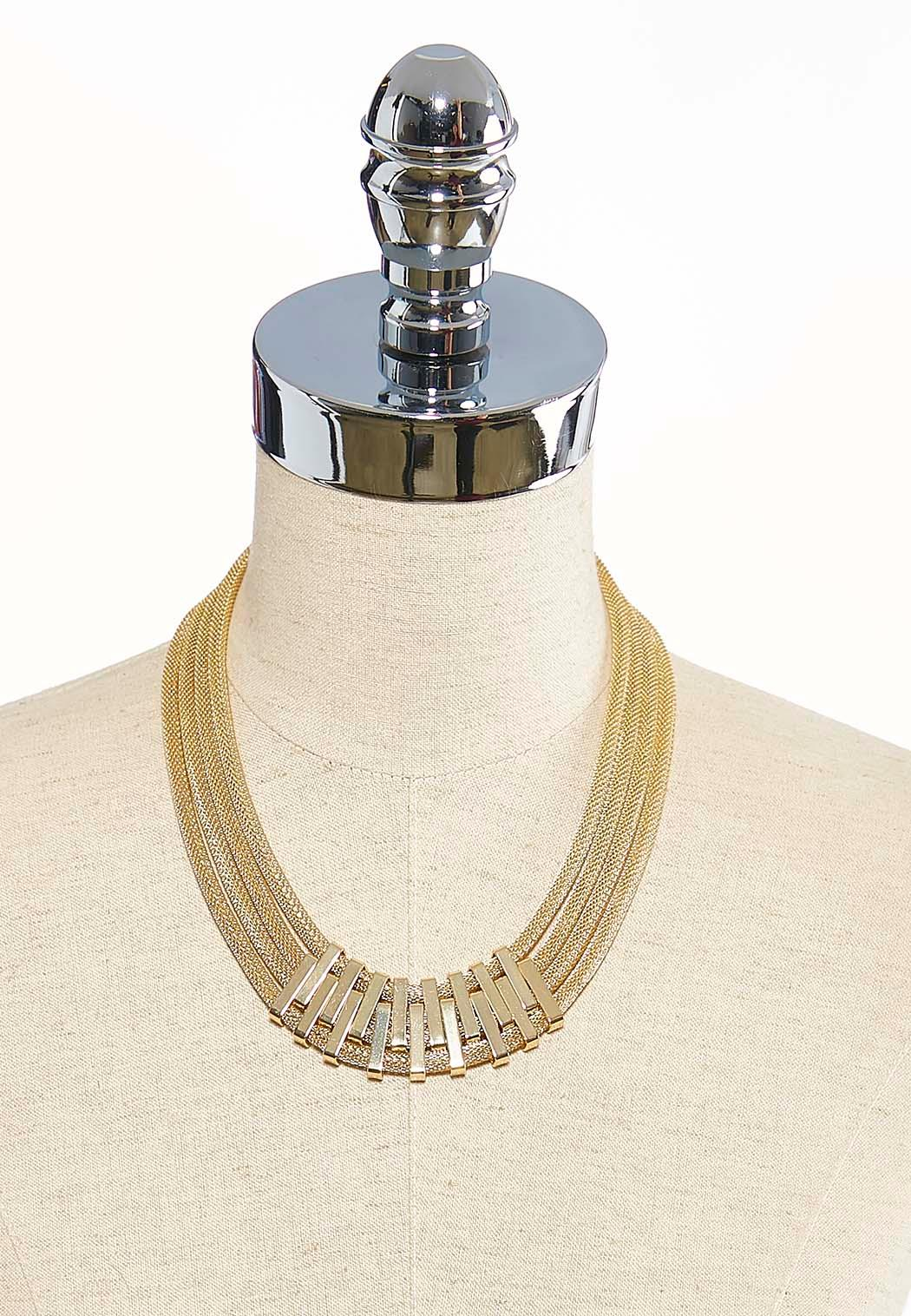 Gold Layered Mesh Necklace (Item #43571962)