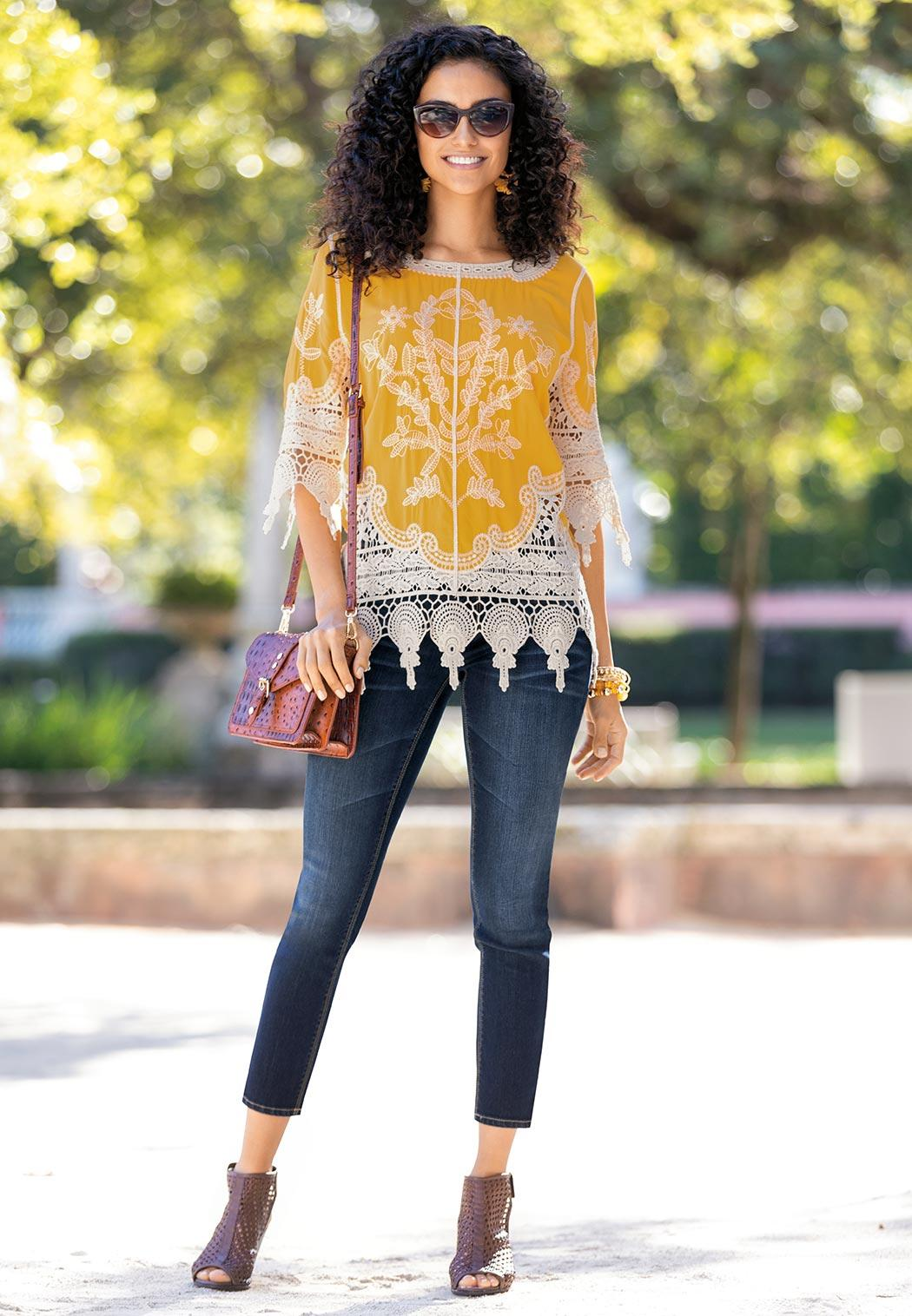 Crochet Embroidered Tunic (Item #43601675)