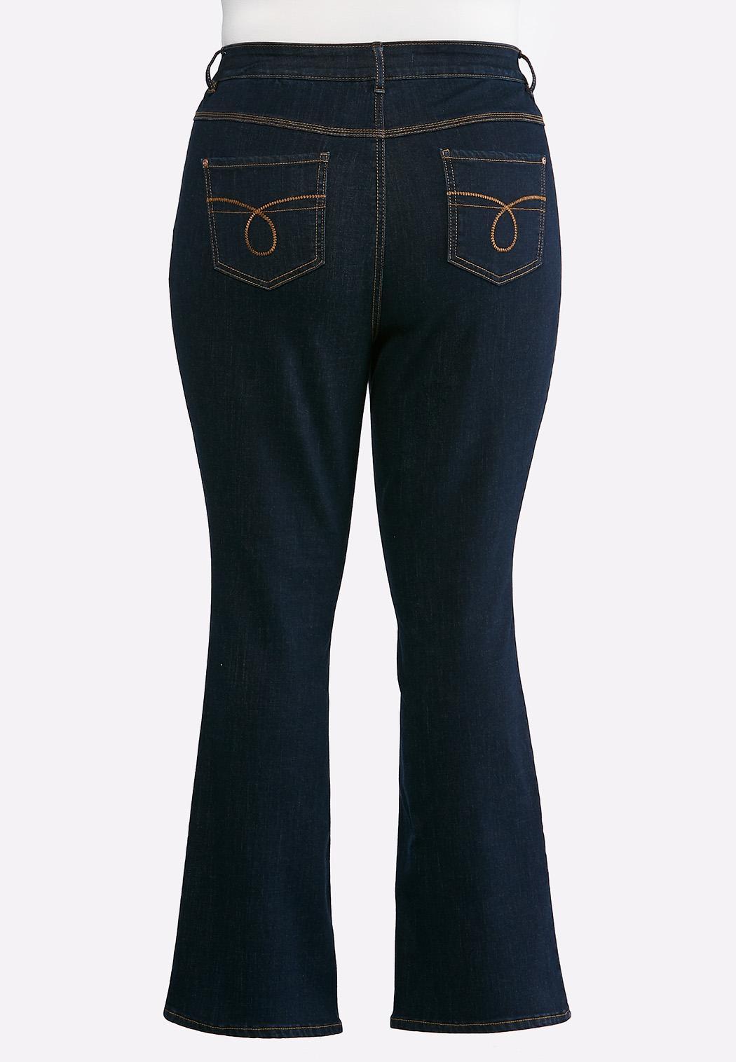 Plus Size Dark Bootcut Jeans (Item #43639599)