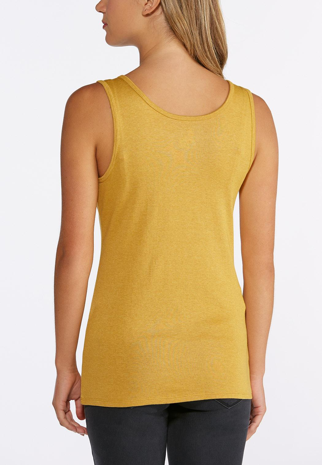 Plus Size Heather Knit Solid Tank (Item #43640936)
