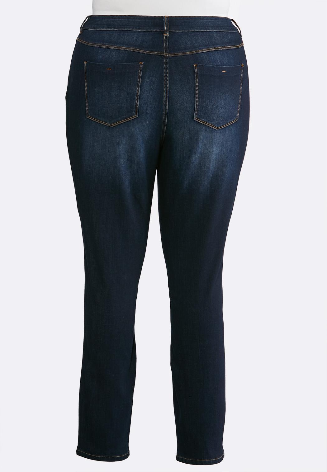 Plus Size Dark Denim Jeans (Item #43664995)