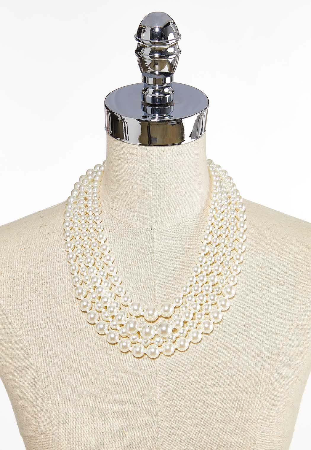 Layered Pearl Necklace (Item #43684755)