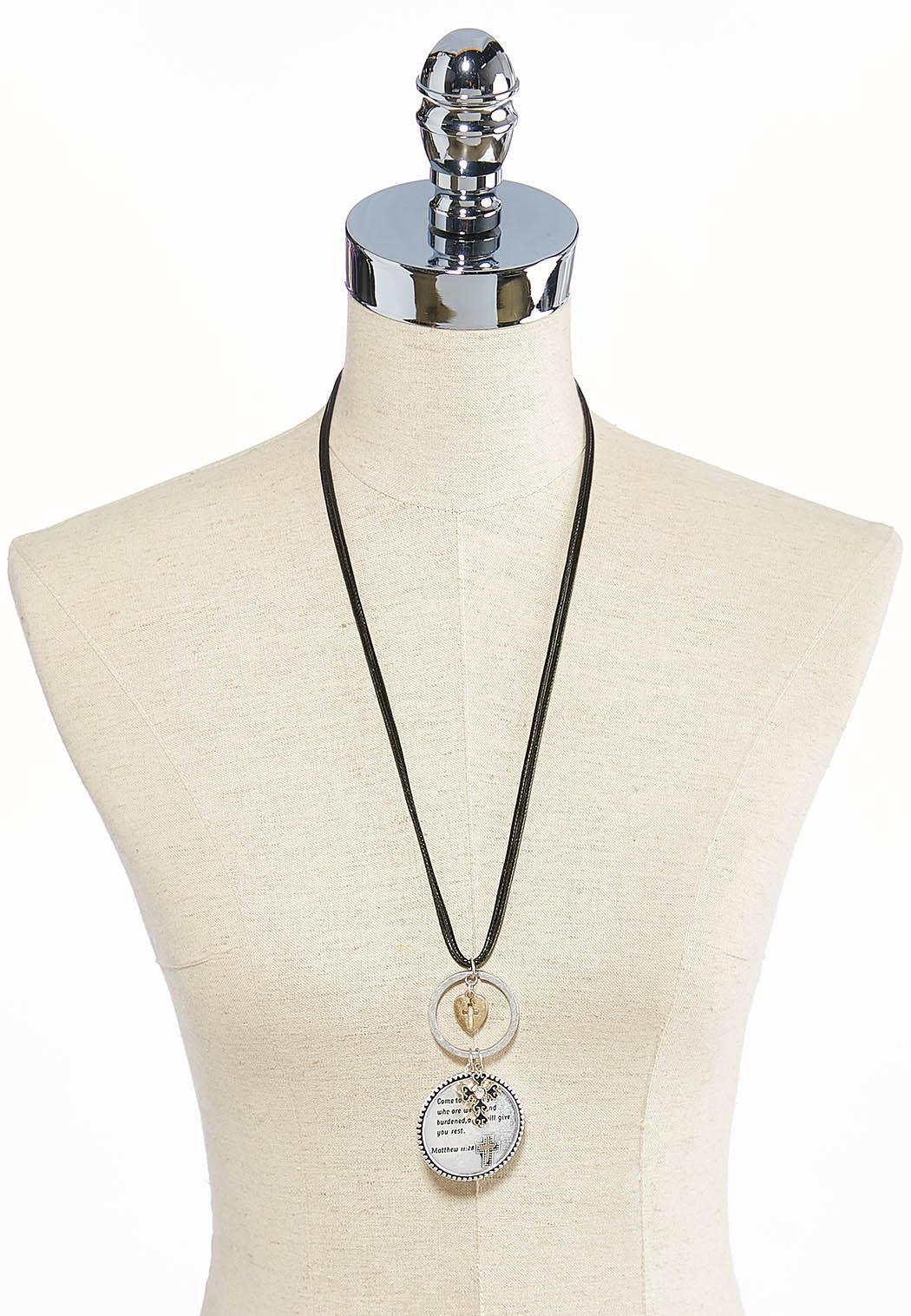 Matthew Scripture Cord Pendant Necklace (Item #43685738)