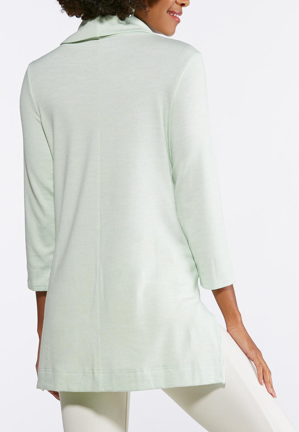 12a0e7da1e0fe Plus Size Solid Cowl Neck Tunic Tees   Knit Tops Cato Fashions