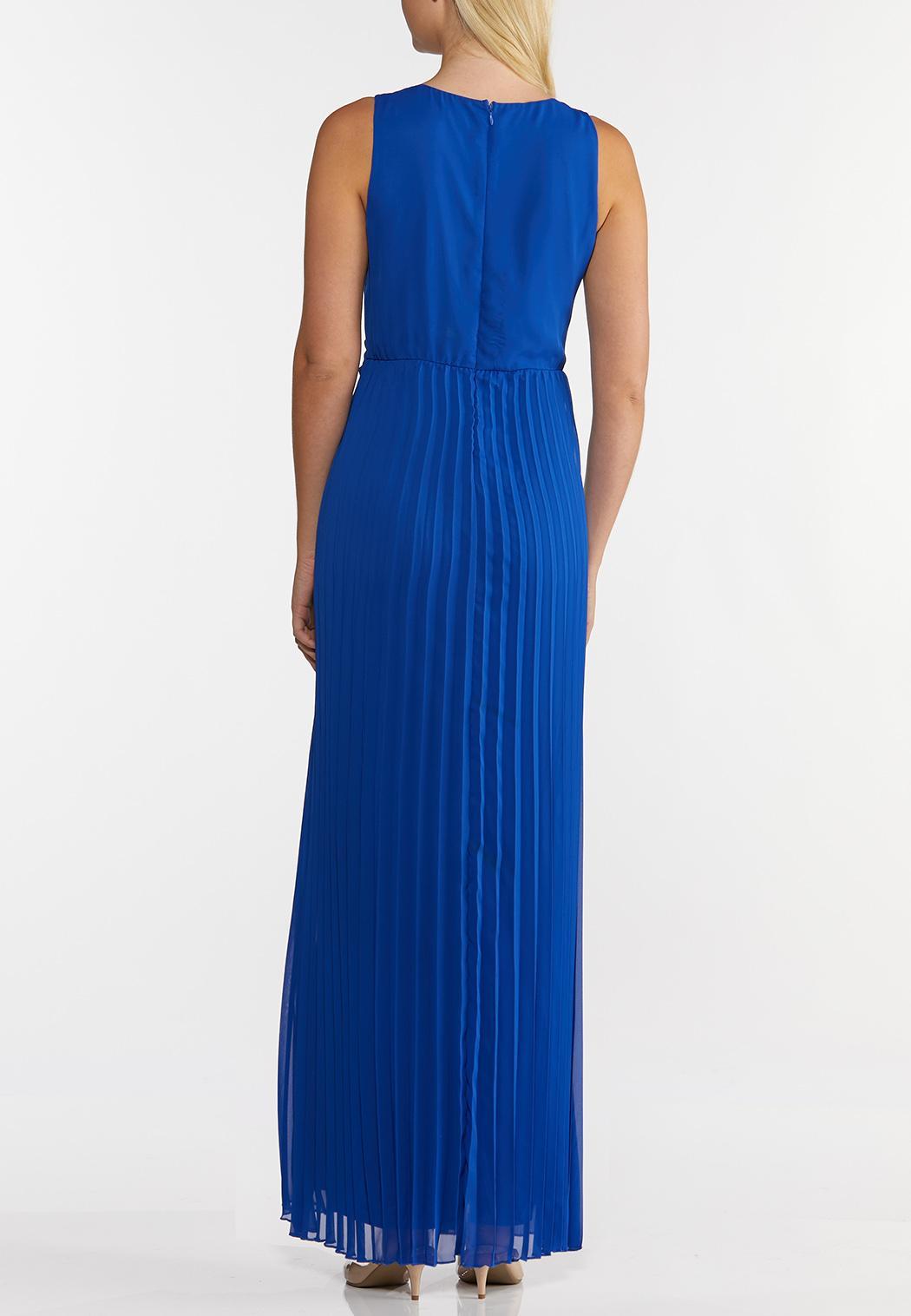Petite Pleated Maxi Dress (Item #43715374)