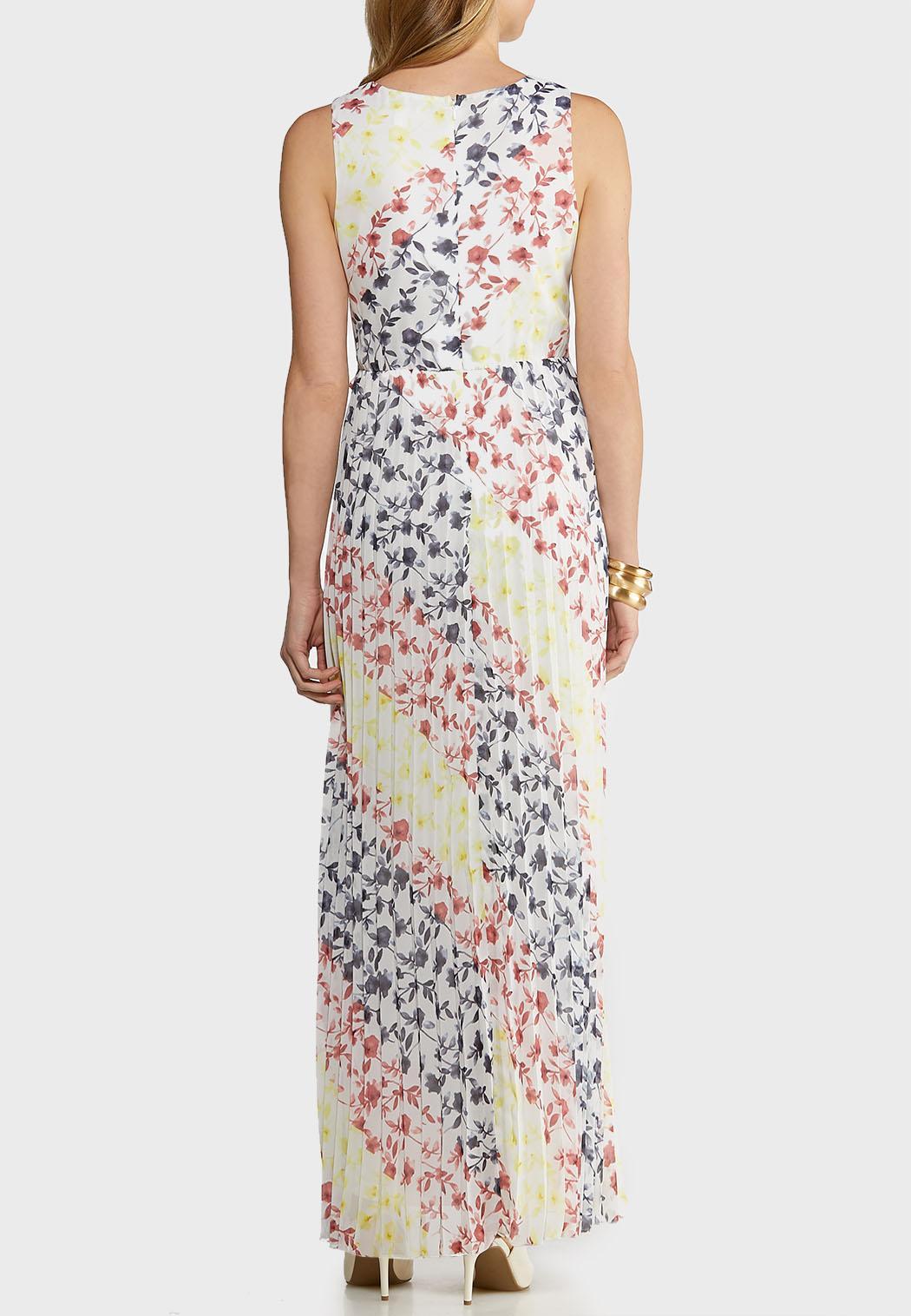 Pleated Tie Waist Maxi Dress (Item #43715456)