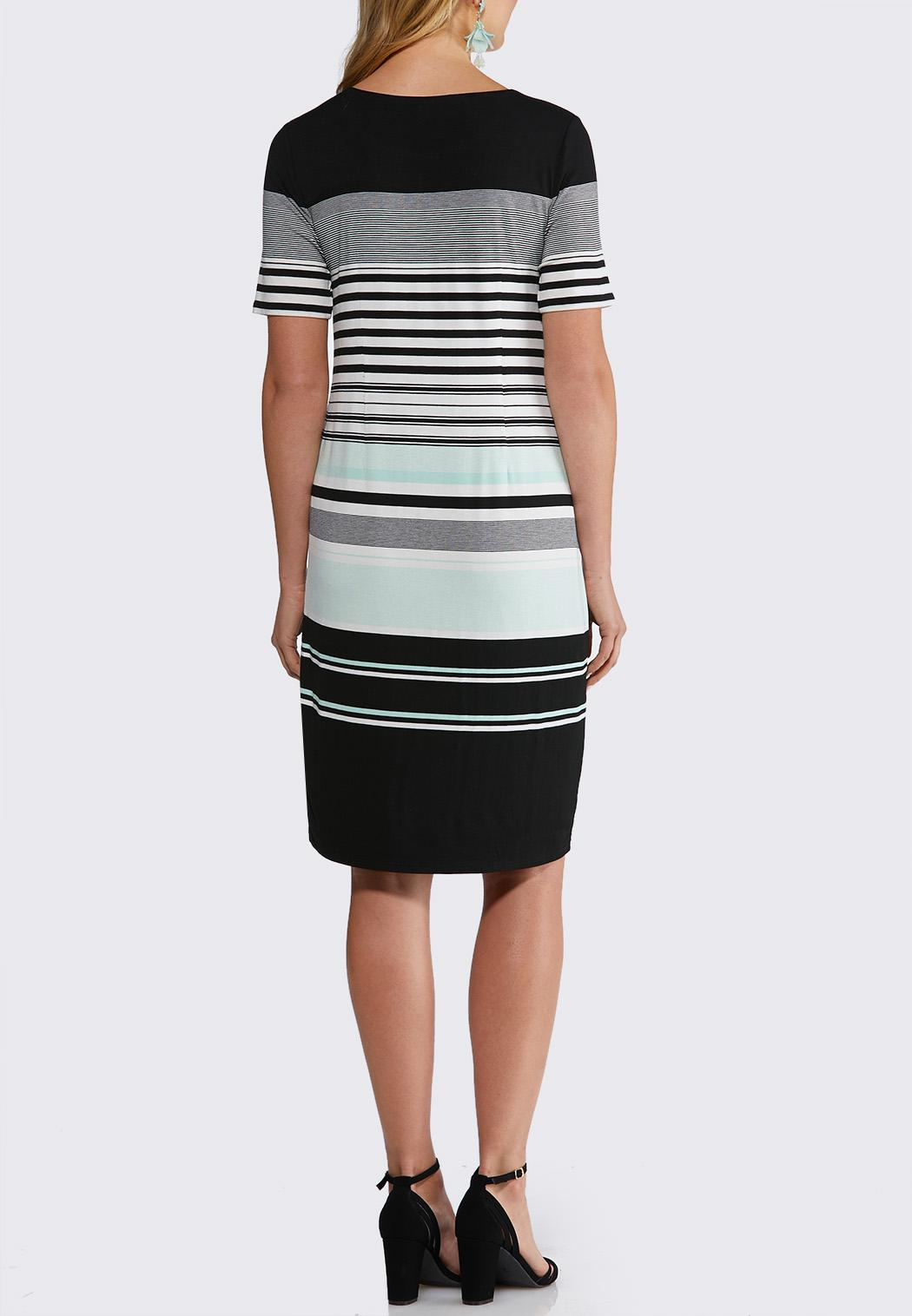 f0766a4d3c9c Plus Size Stripe Midi Dress alternate view ...