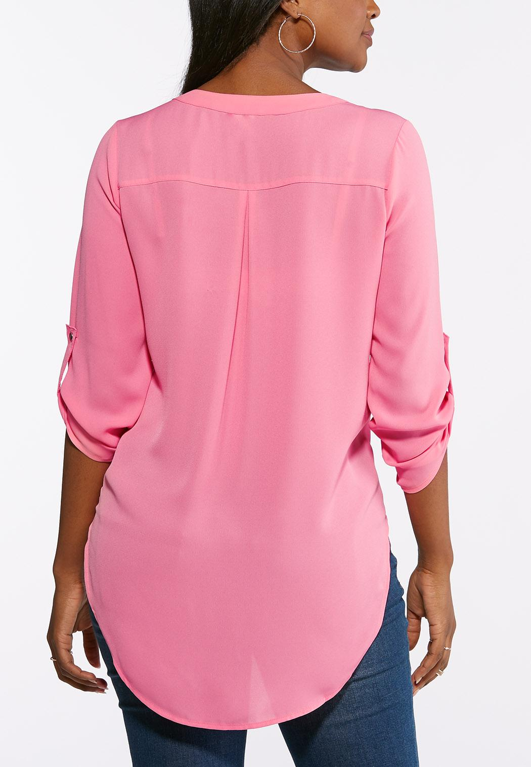 Plus Size Extreme High-Low Popover Top (Item #43728832)
