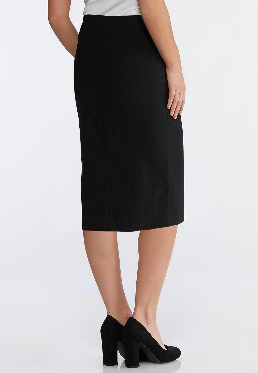 Plus Size Bengaline Pencil Skirt (Item #43731673)