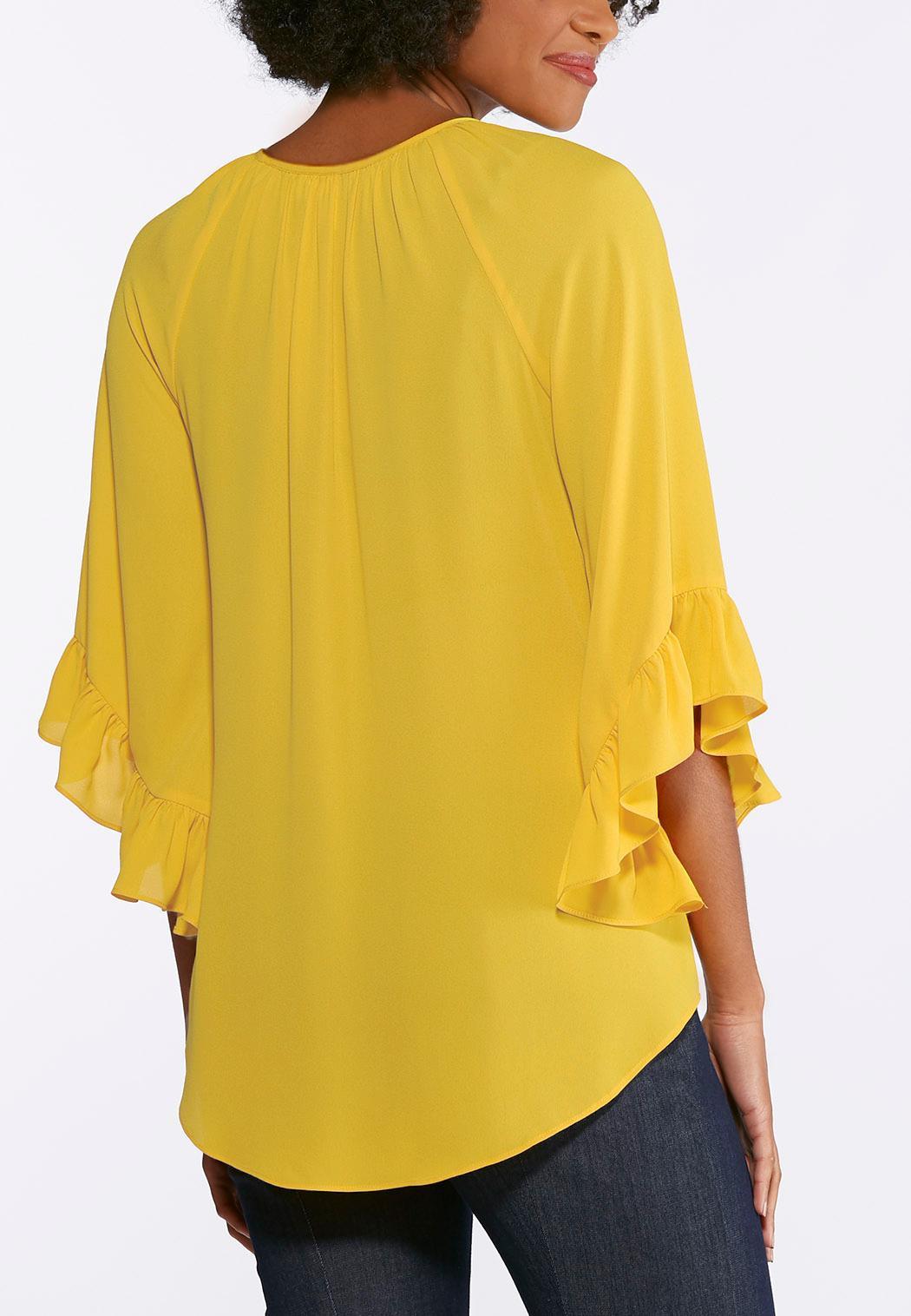 Breezy Ruffled Sleeve Top (Item #43743308)