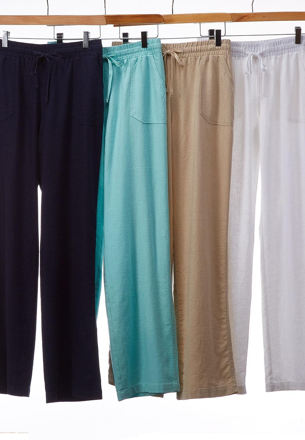 Drawstring Linen Pants (Item #43747365)