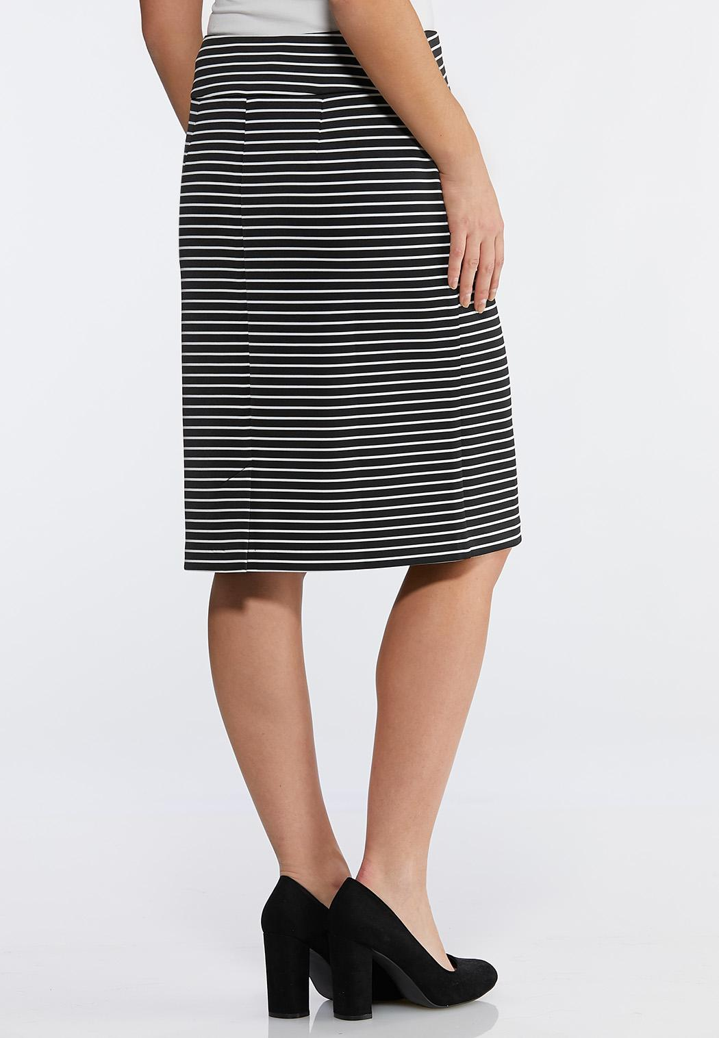 376a292dec3 Stripe Scuba Pencil Skirt Skirts Cato Fashions