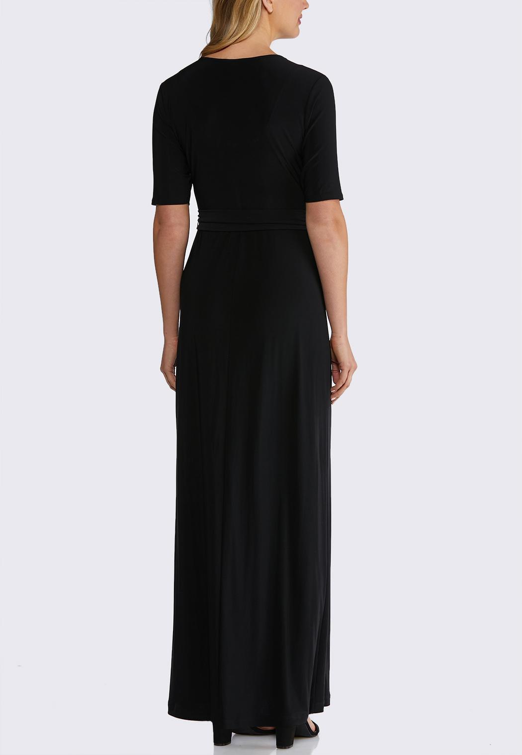 3c73cdf9966 Solid Tie Waist Maxi Dress Junior Misses Cato Fashions