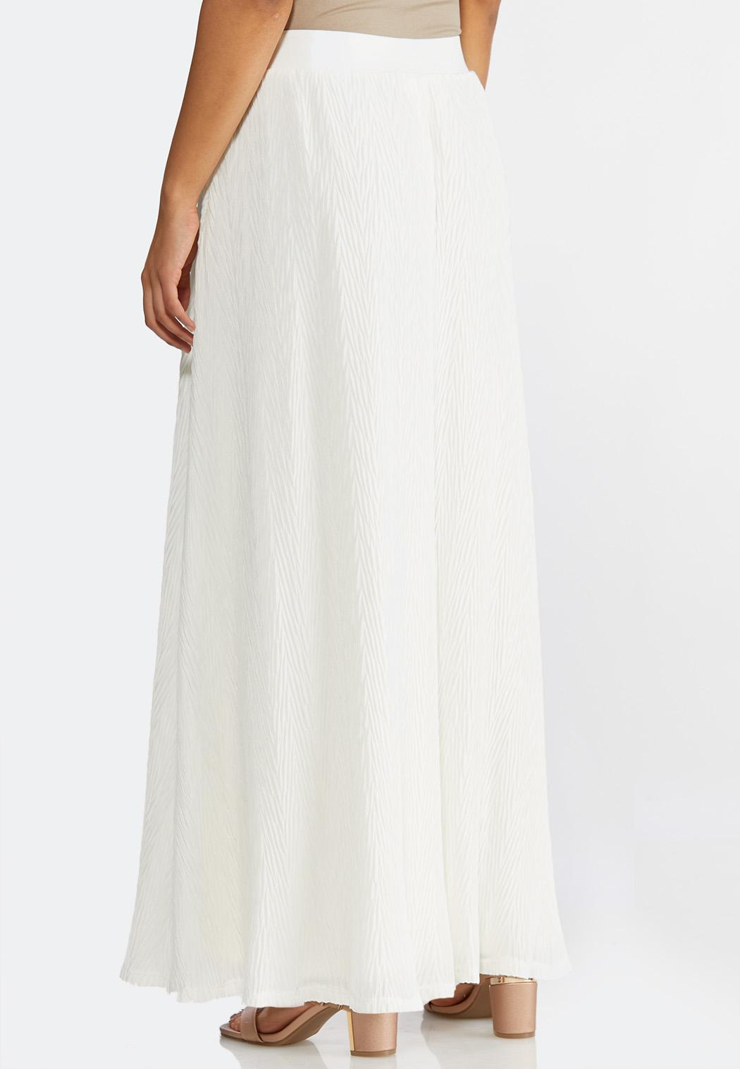 30d80f4975 Plus Size Crinkled Ivory Maxi Skirt alternate view ...