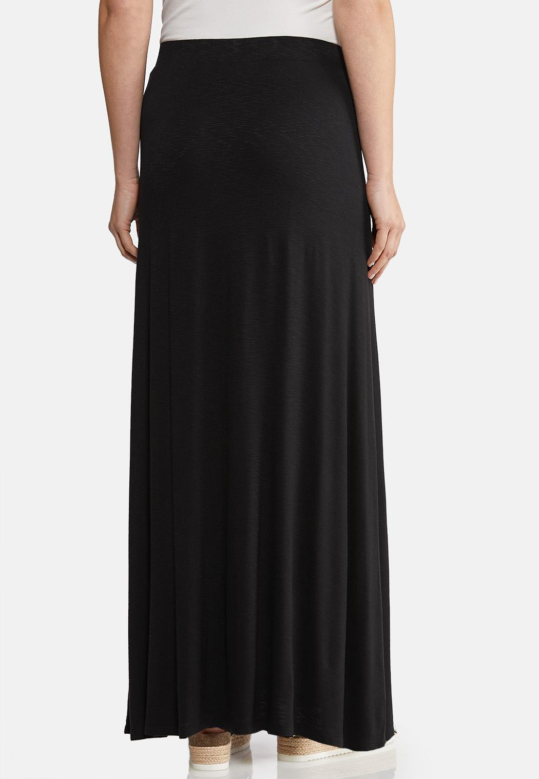 c34205a12 Plus Size Solid Knit Maxi Skirt alternate view ...
