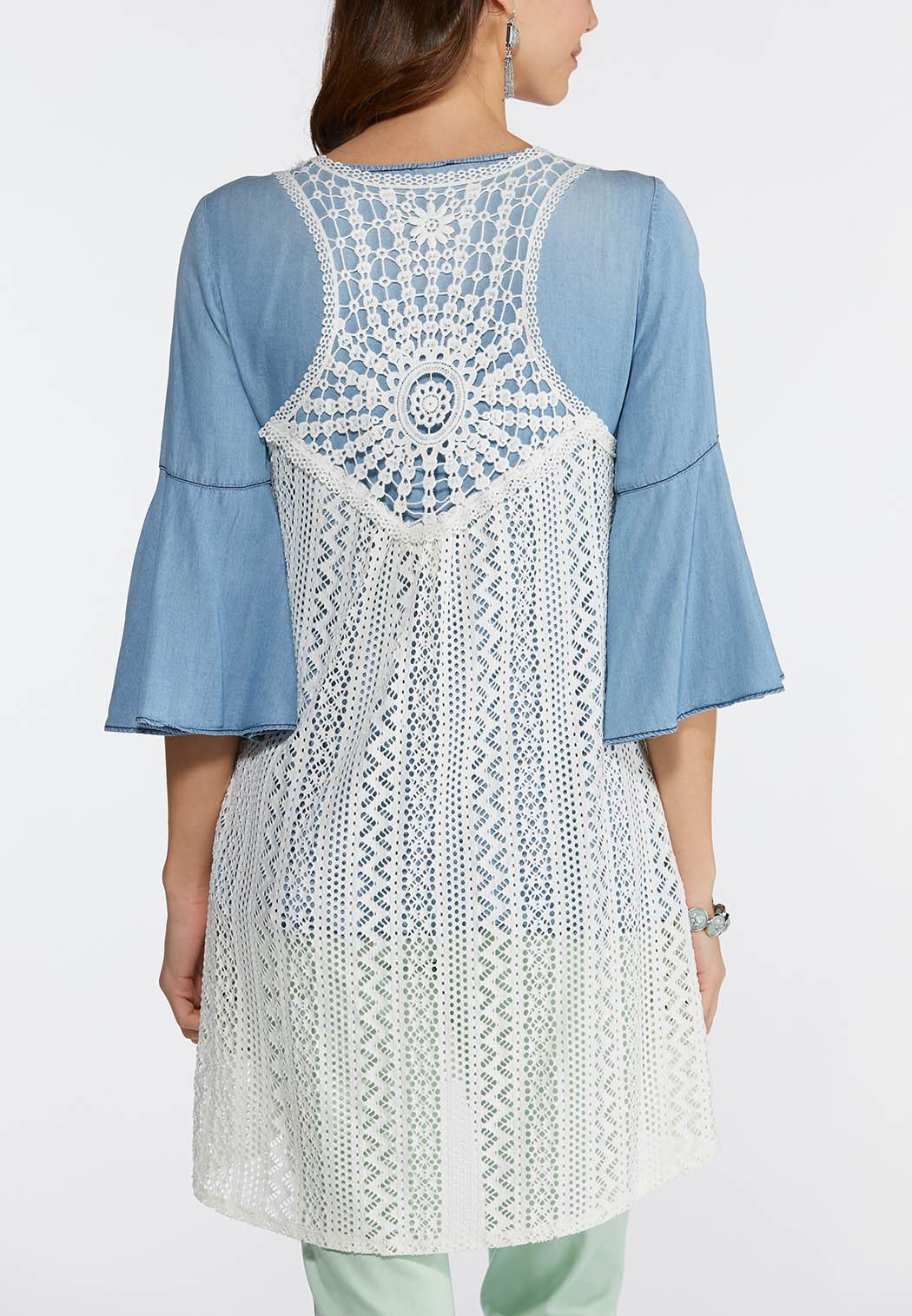 Plus Size Crochet Racerback Layering Vest Vests Cato Fashions