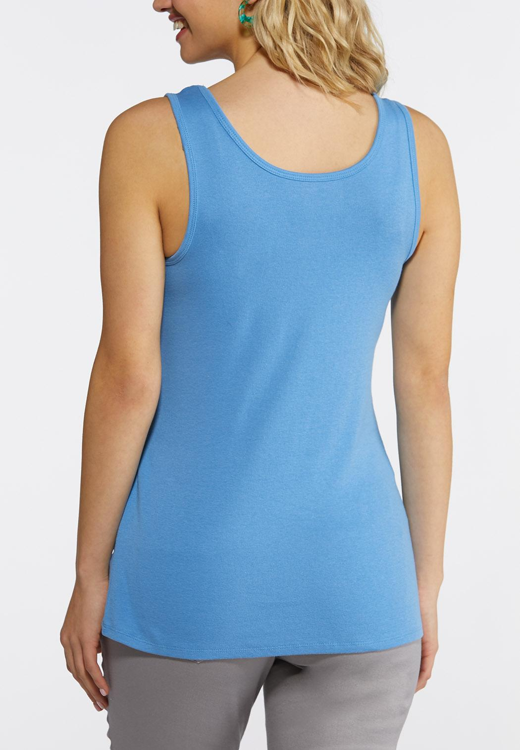 Plus Size Essential Cotton Tank (Item #43812893)