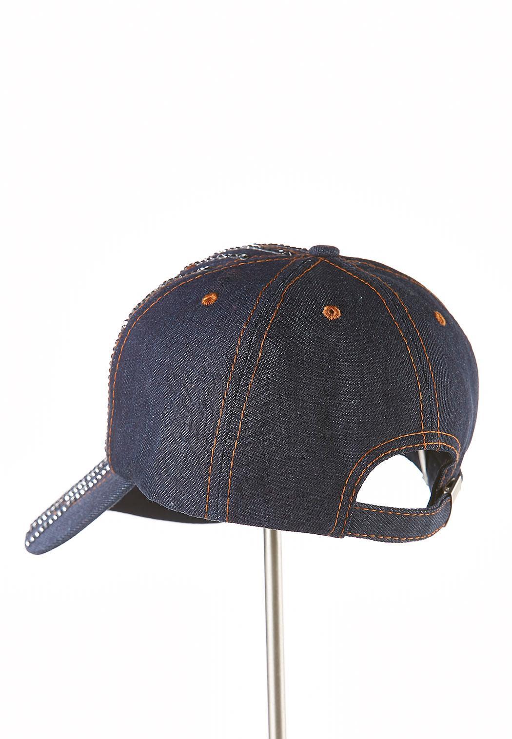 Rhinestone Denim Hat (Item #43833696)