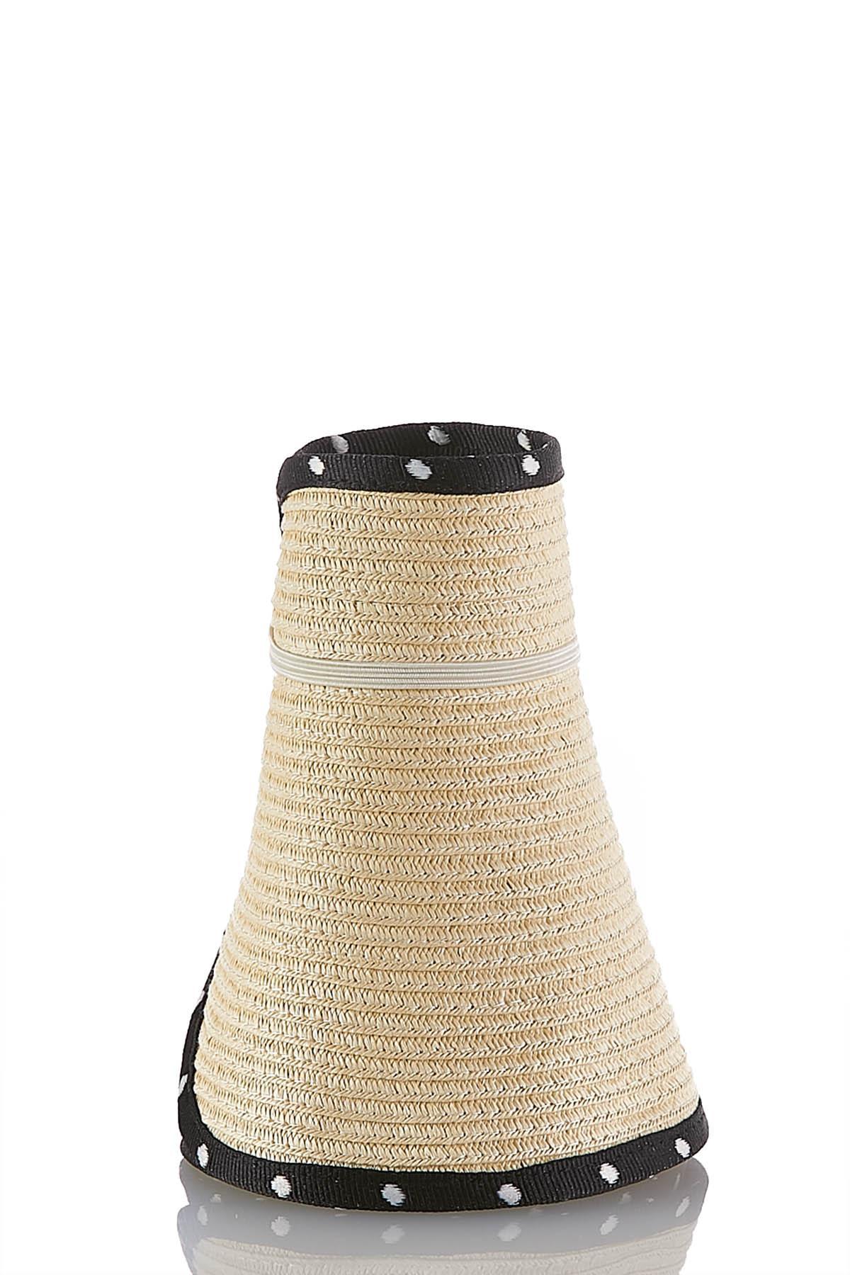 Polka Dot Visor Floppy Hat (Item #43846174)