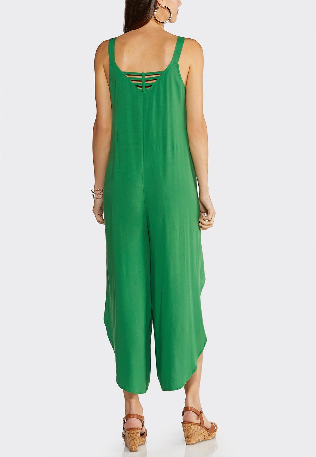 Plus Size Lattice Back Genie Jumpsuit (Item #43853936)