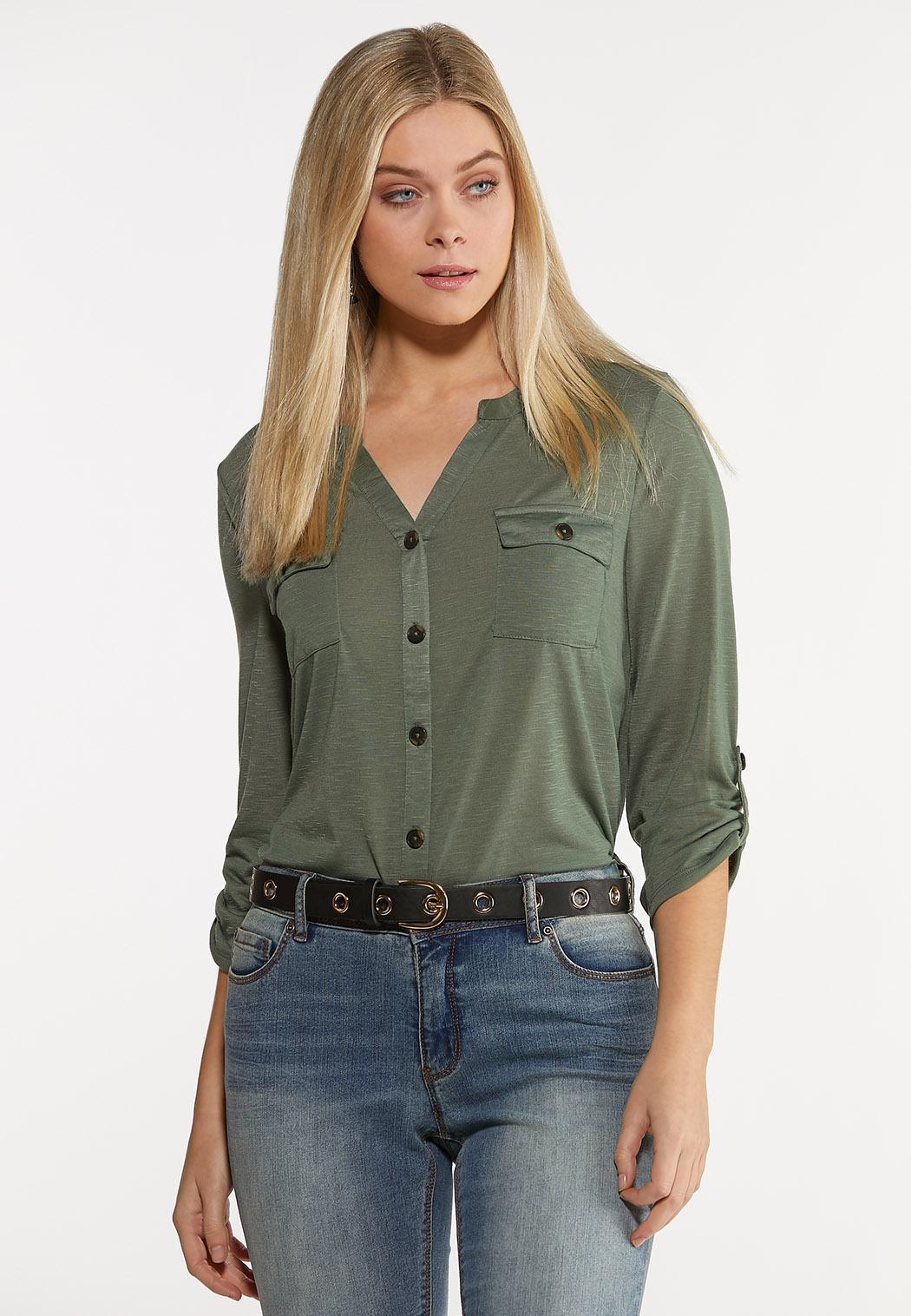 Plus Size Grommet Faux Leather Belt (Item #43854887)