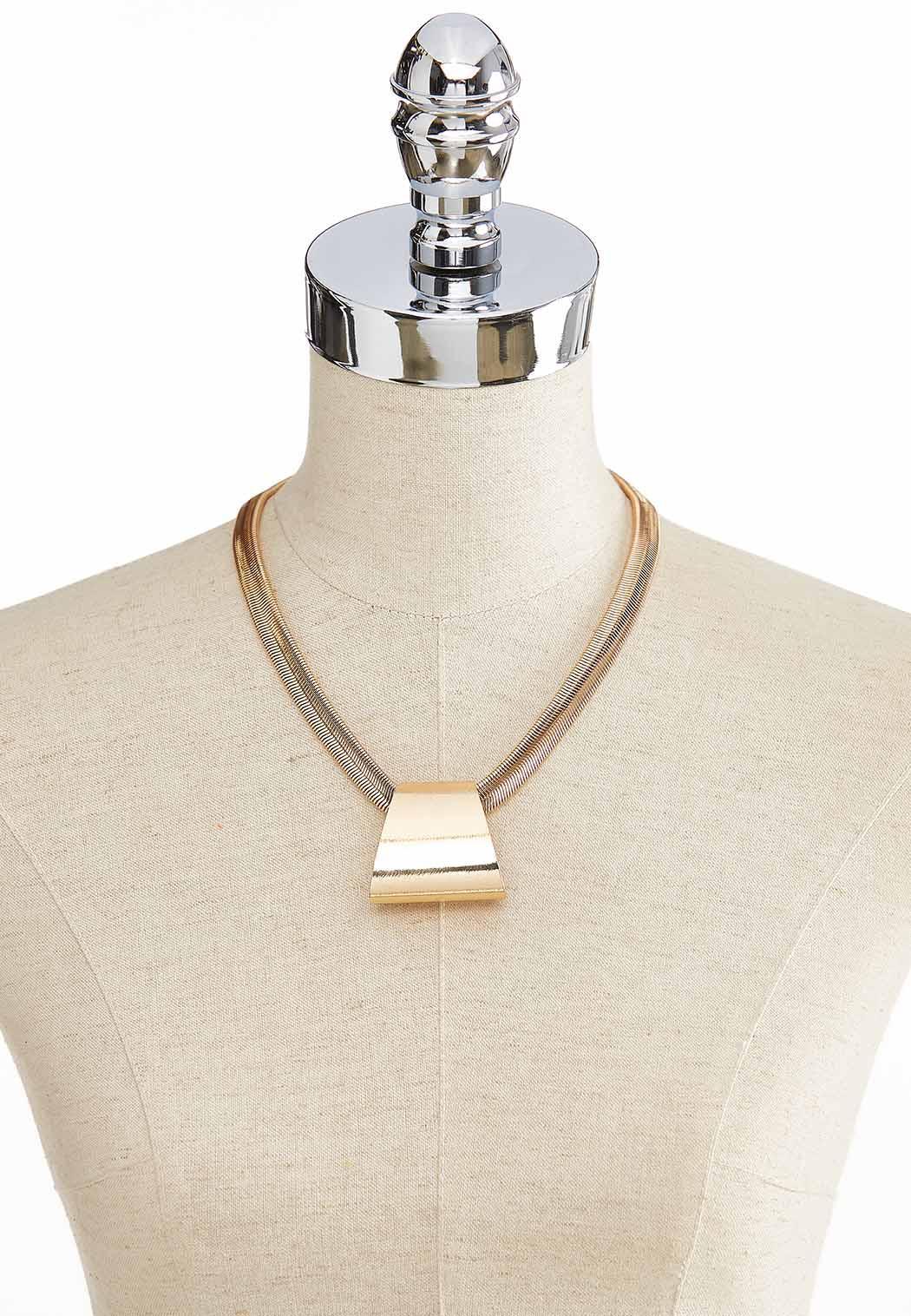 Metal Pendant Chain Necklace (Item #43862298)