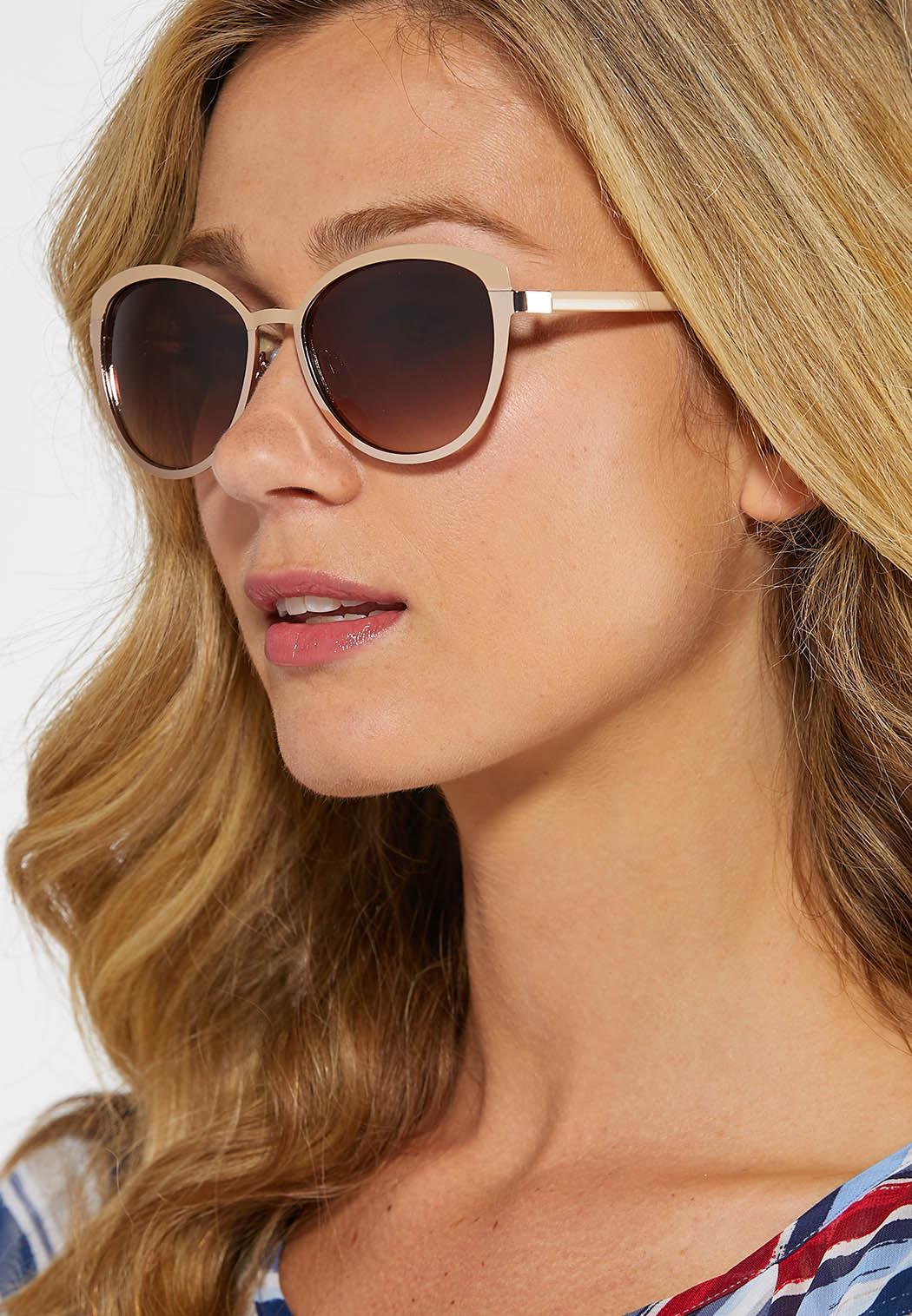 Mixed Metal Cateye Sunglasses (Item #43862722)
