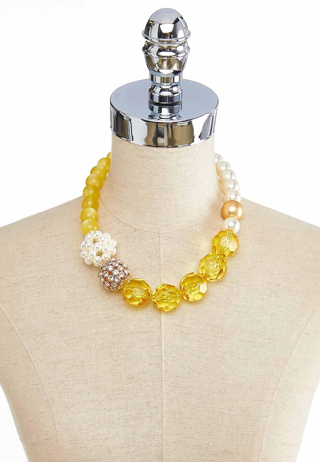 Pearl And Pave Mixed Bead Necklace (Item #43870291)