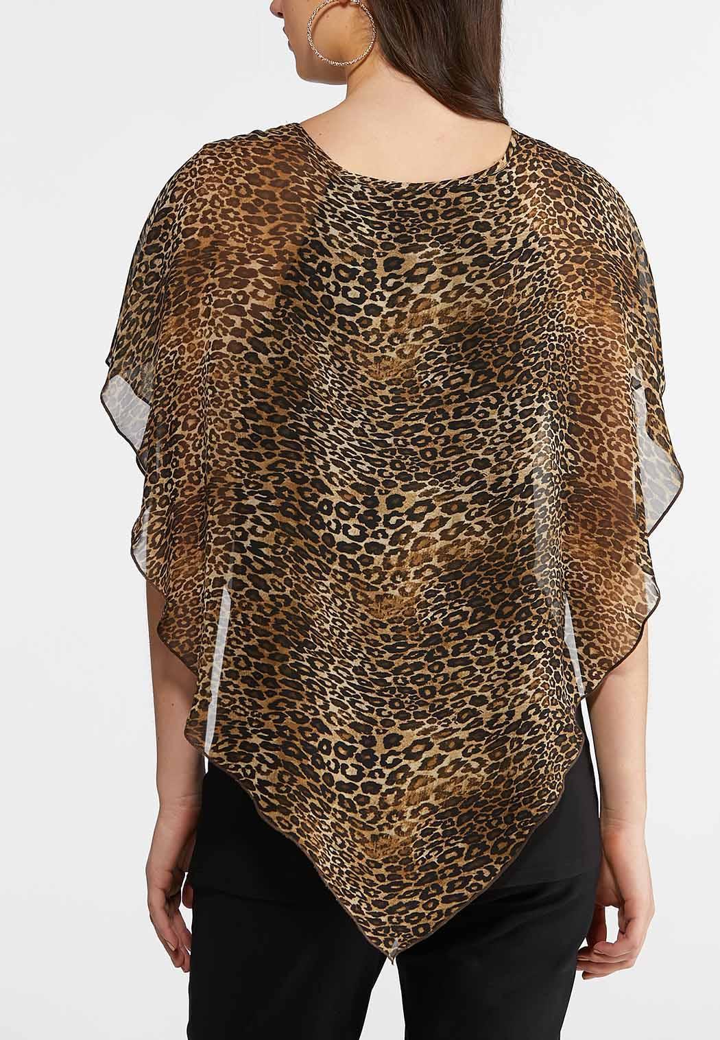 Leopard Embellished Capelet (Item #43870893)