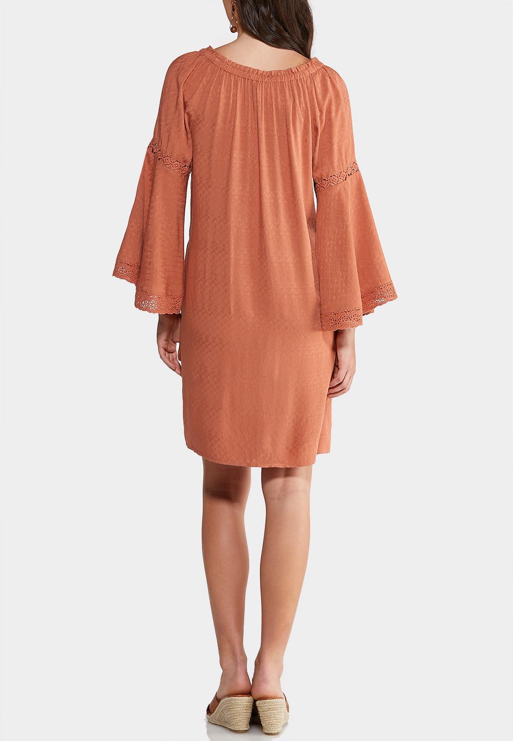 Plus Size Lace Trim Peasant Dress (Item #43875729)
