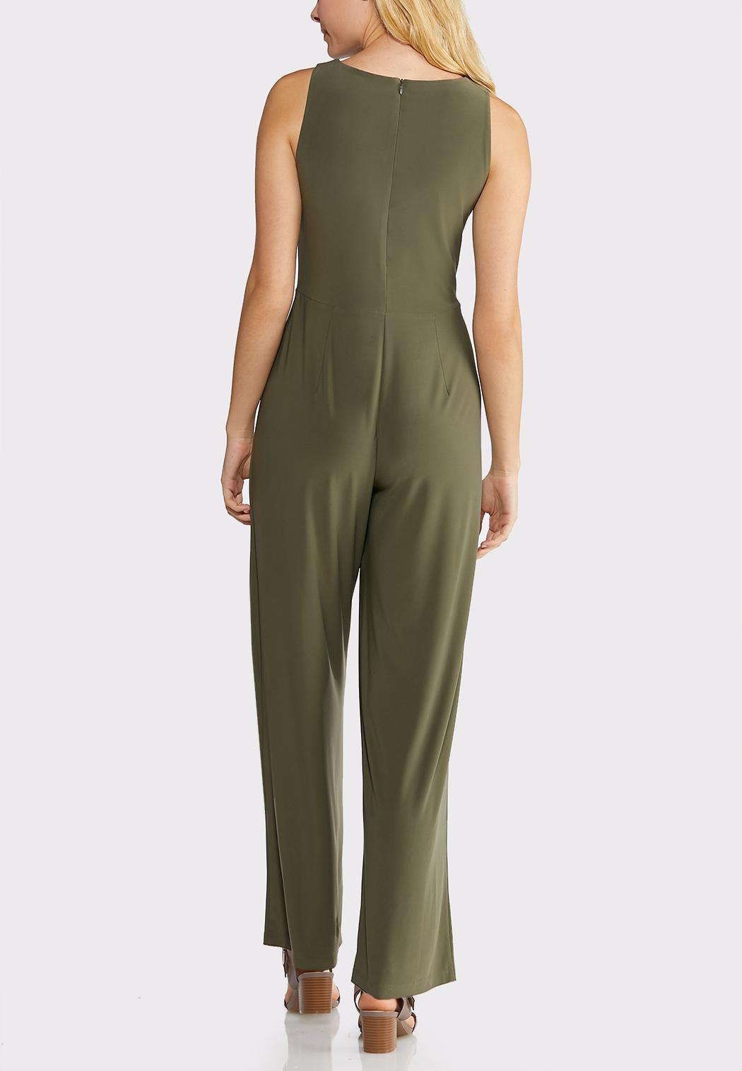 Plus Size Wrap Tie Waist Jumpsuit (Item #43875857)
