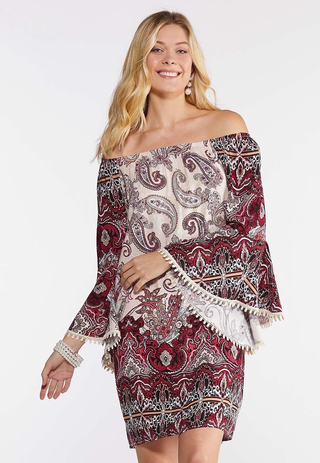 Crochet Trim Peasant Dress (Item #43876064)