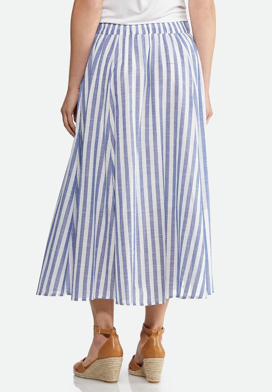 Linen Button Front Midi Skirt  (Item #43878922)