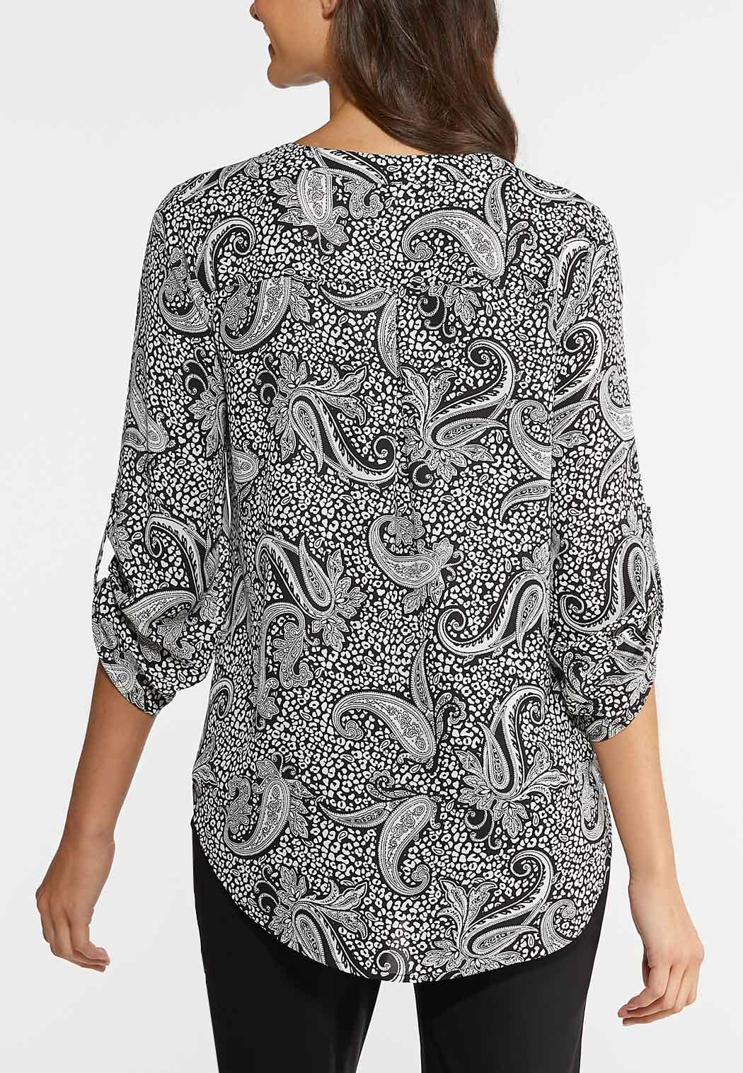 Black And White Paisley Top (Item #43883712)