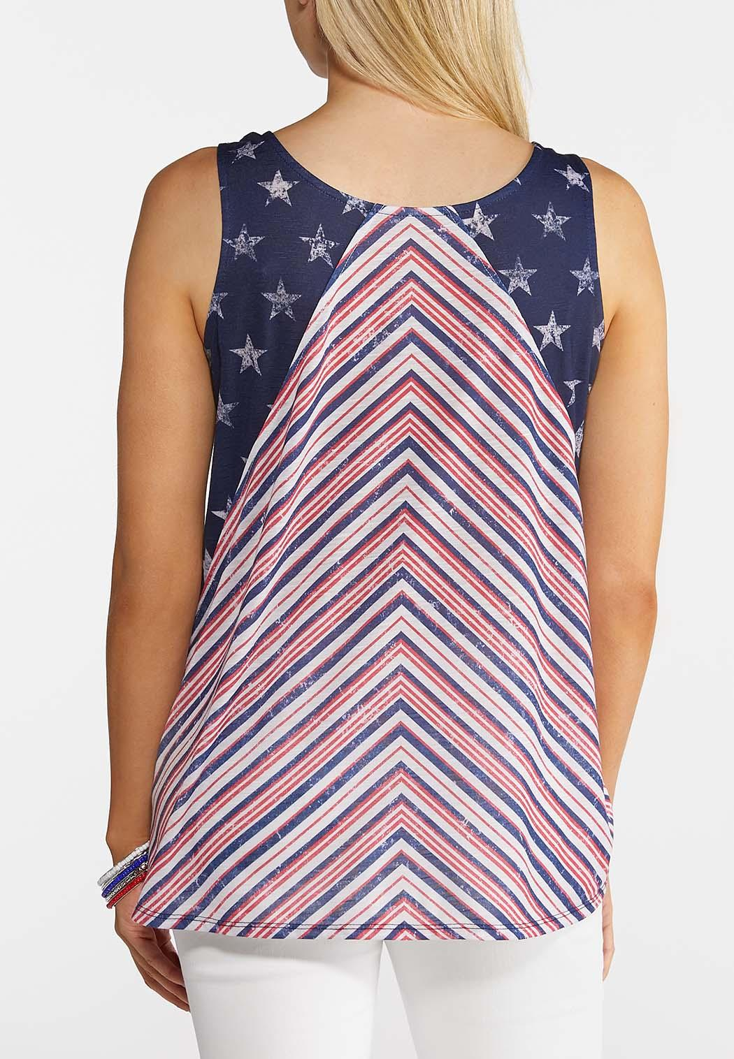 2bab61c394 Plus Size Stars And Stripes Tank Tops Cato Fashions