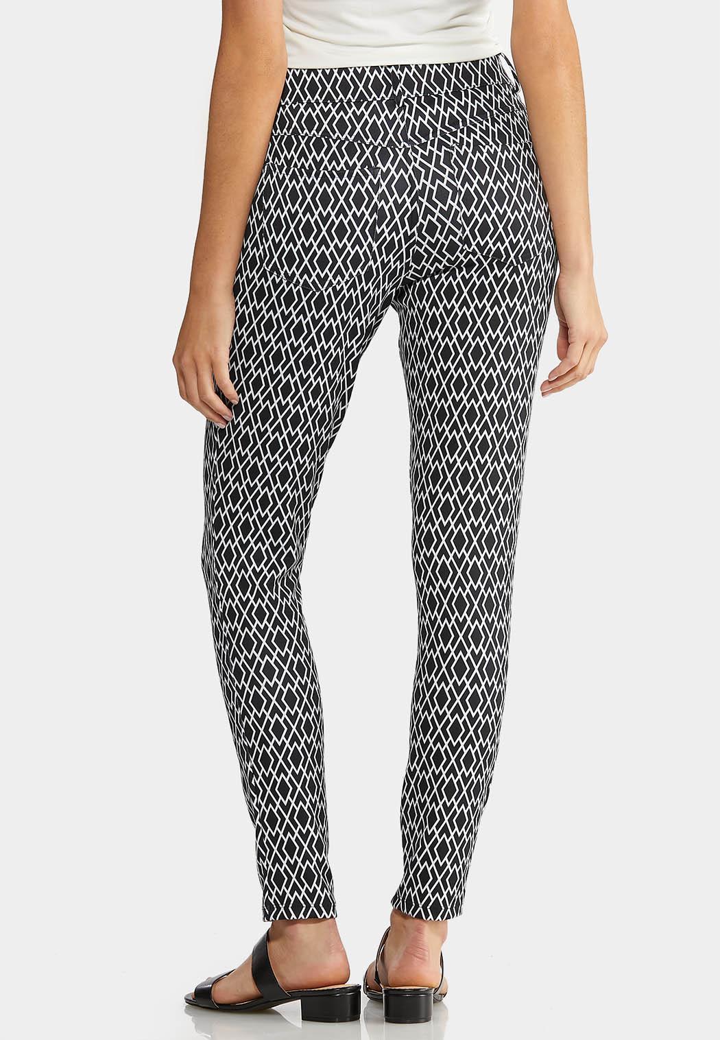 Petite Diamond Print Knit Pants (Item #43890616)