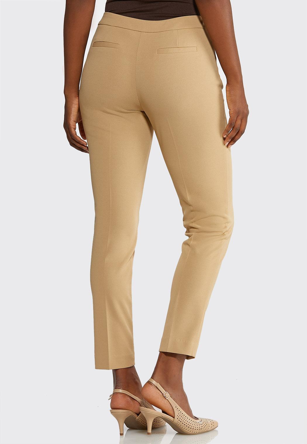 Petite Slim Leg Dressy Knit Pants (Item #43892392)