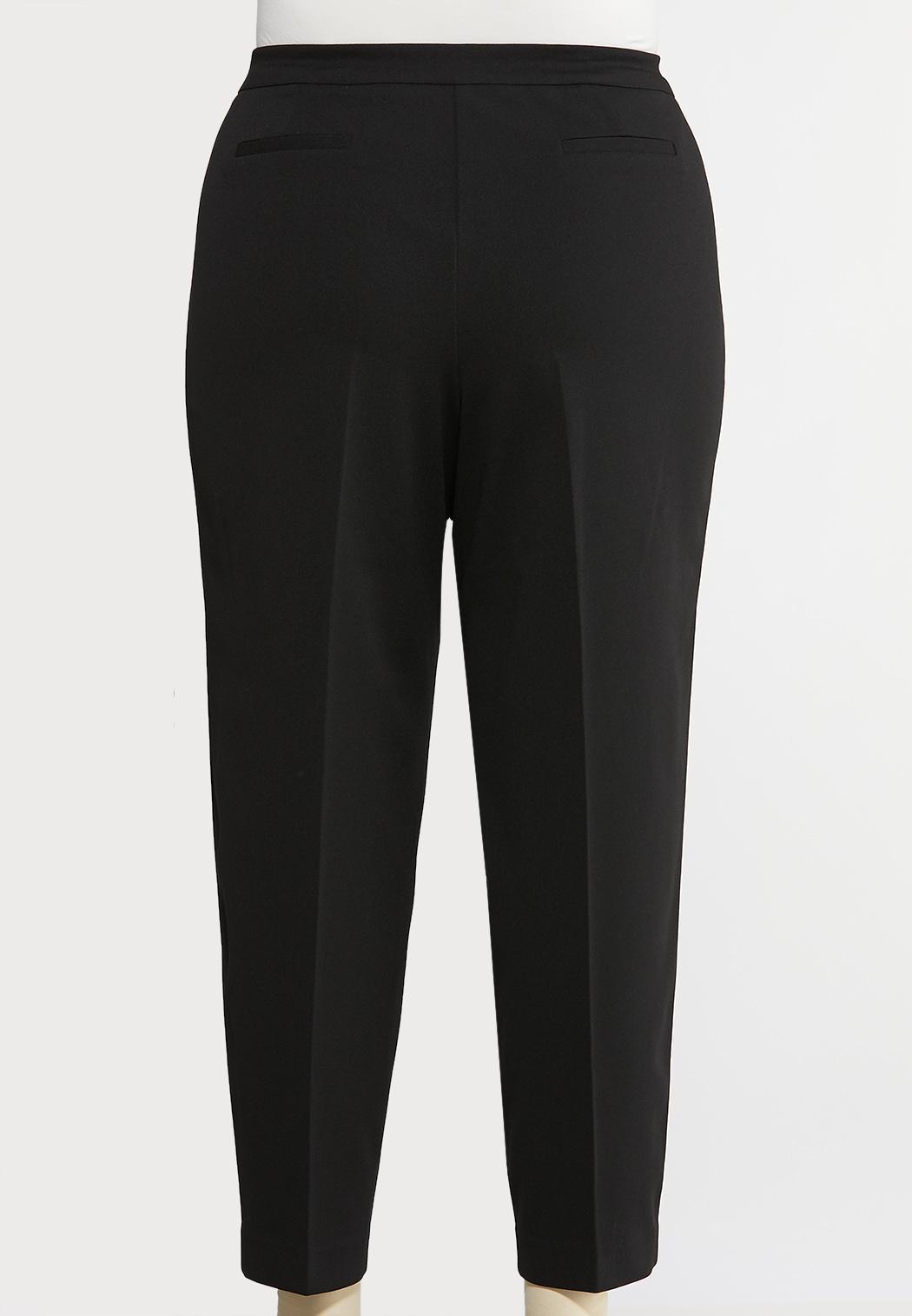 Plus Size Slim Leg Dressy Knit Pants (Item #43892495)