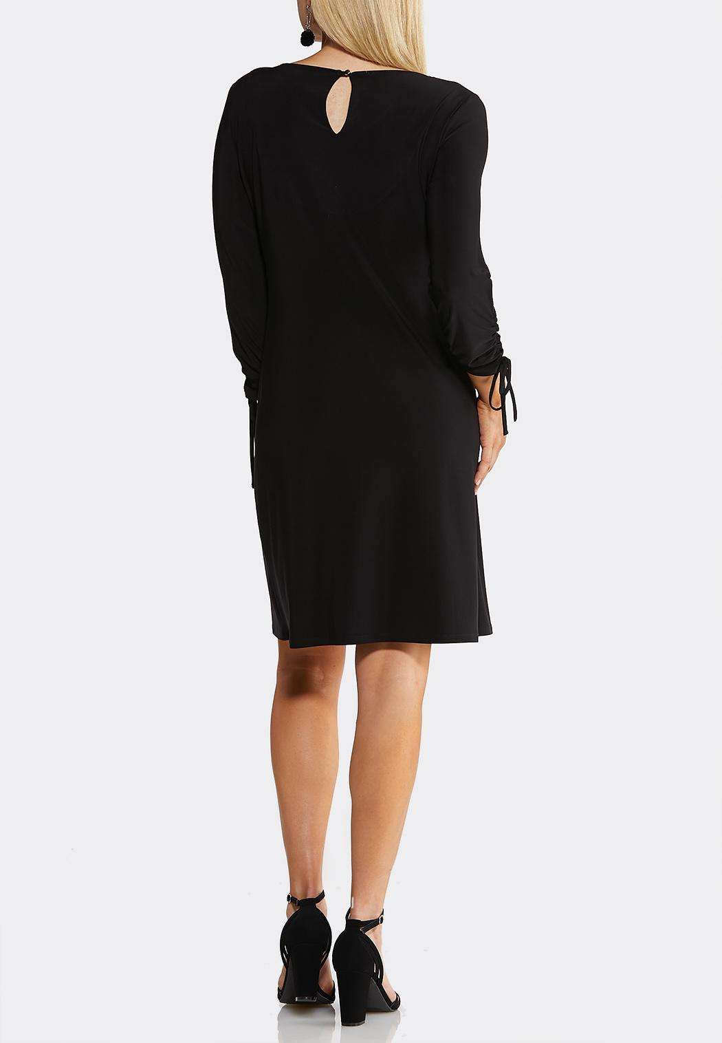 Ruched Tied Sleeve Dress (Item #43896213)