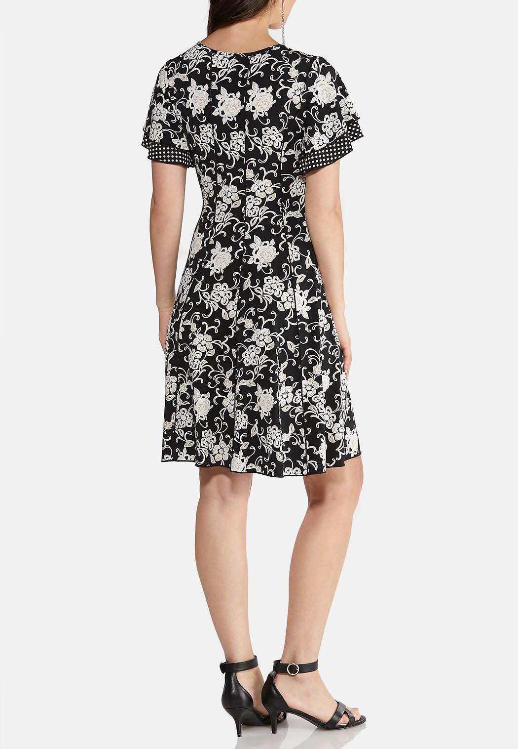 Floral Dot Puff Dress (Item #43896266)