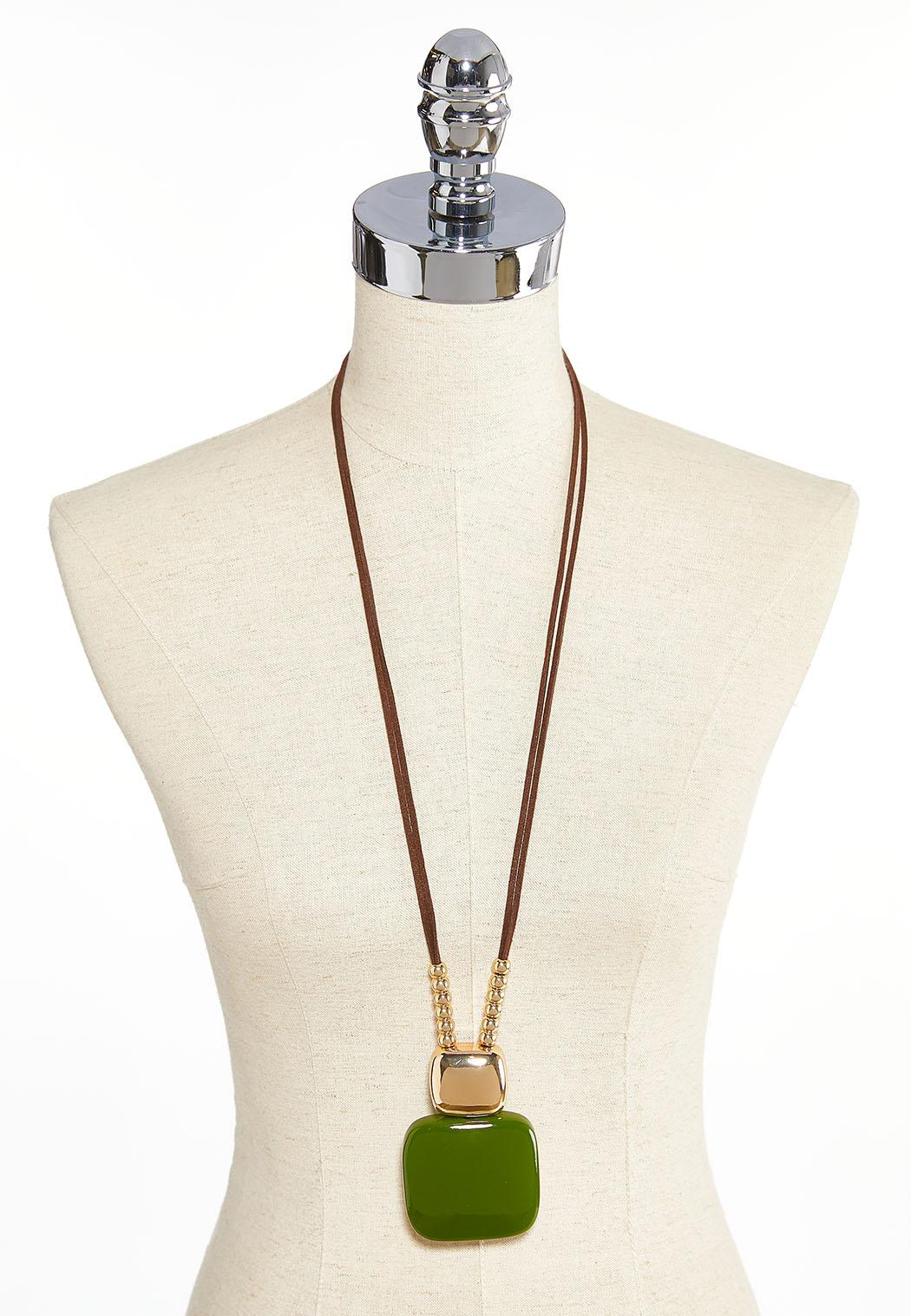 Square Acrylic Pendant Necklace (Item #43896449)