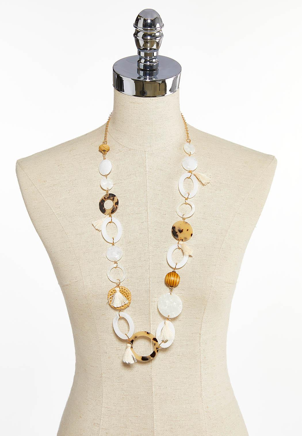 Mixed Material Necklace (Item #43897122)