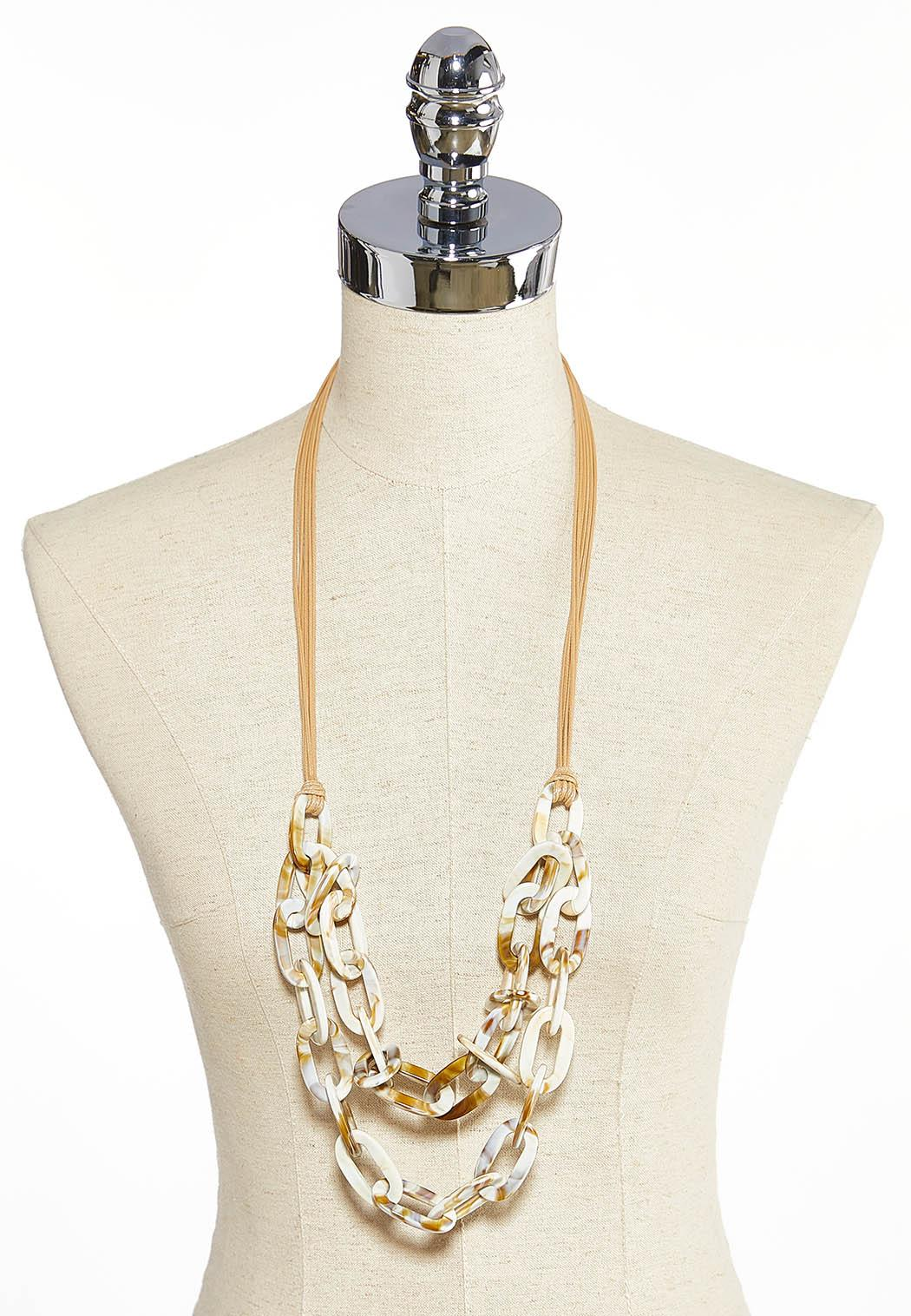 Layered Link Cord Necklace (Item #43897135)