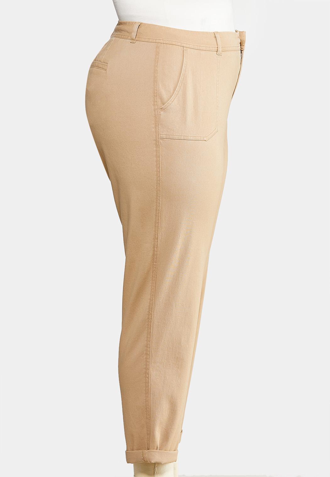 Plus Size Utility Chino Pants (Item #43901031)