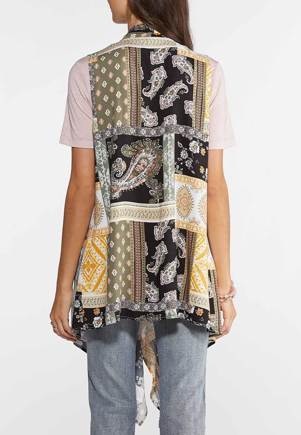 Printed Draped Vest (Item #43902167)