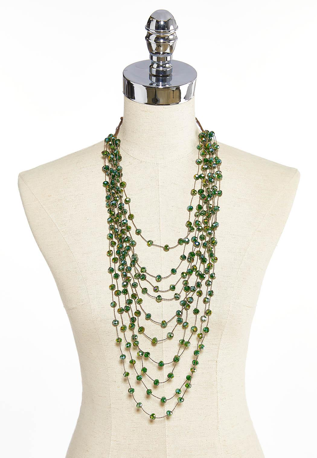 Beaded Cord Layered Necklace (Item #43910687)