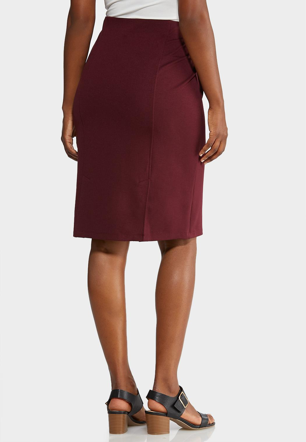 Ponte Pull-On Pencil Skirt (Item #43916041)
