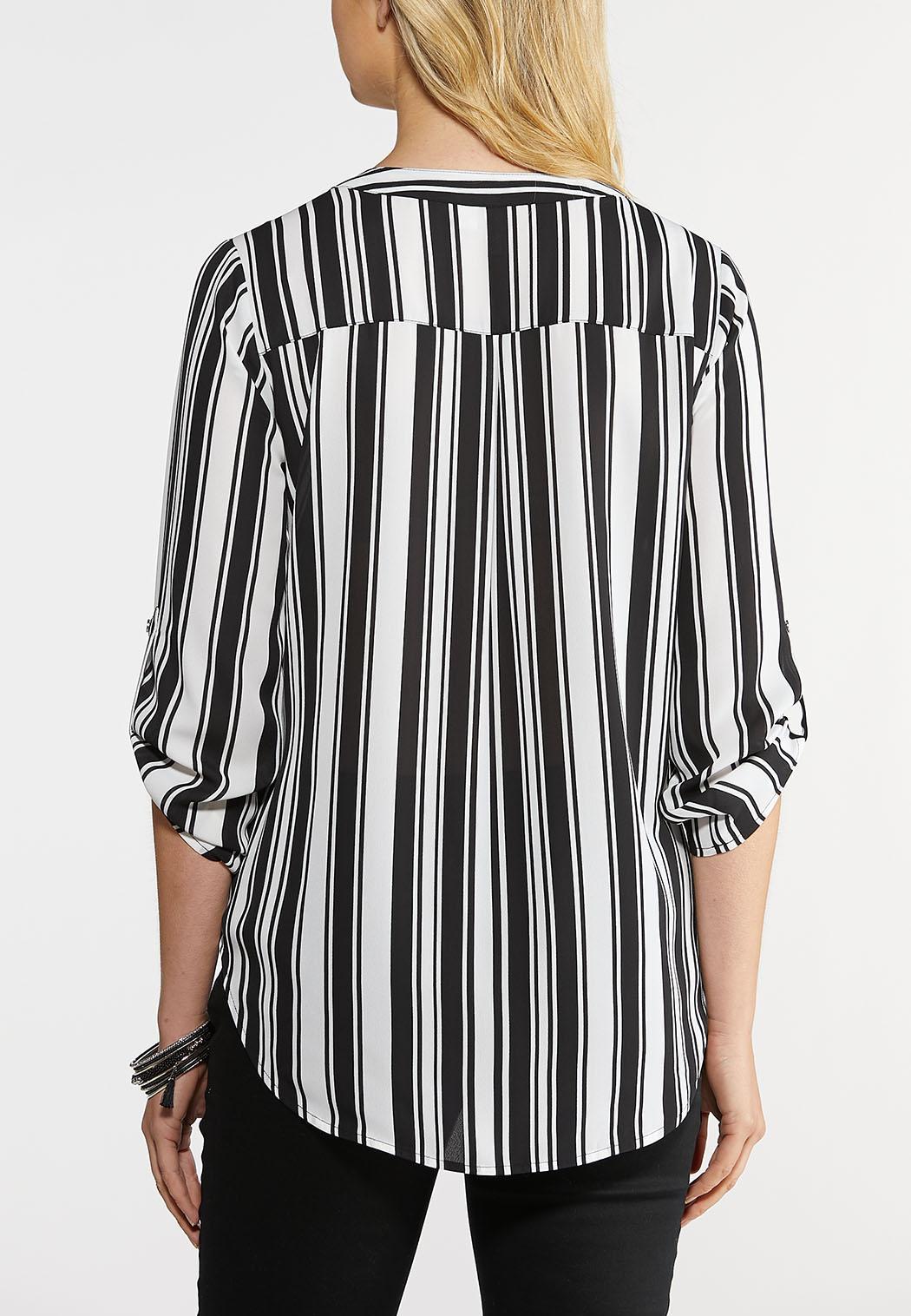 Striped Popover Top (Item #43916847)