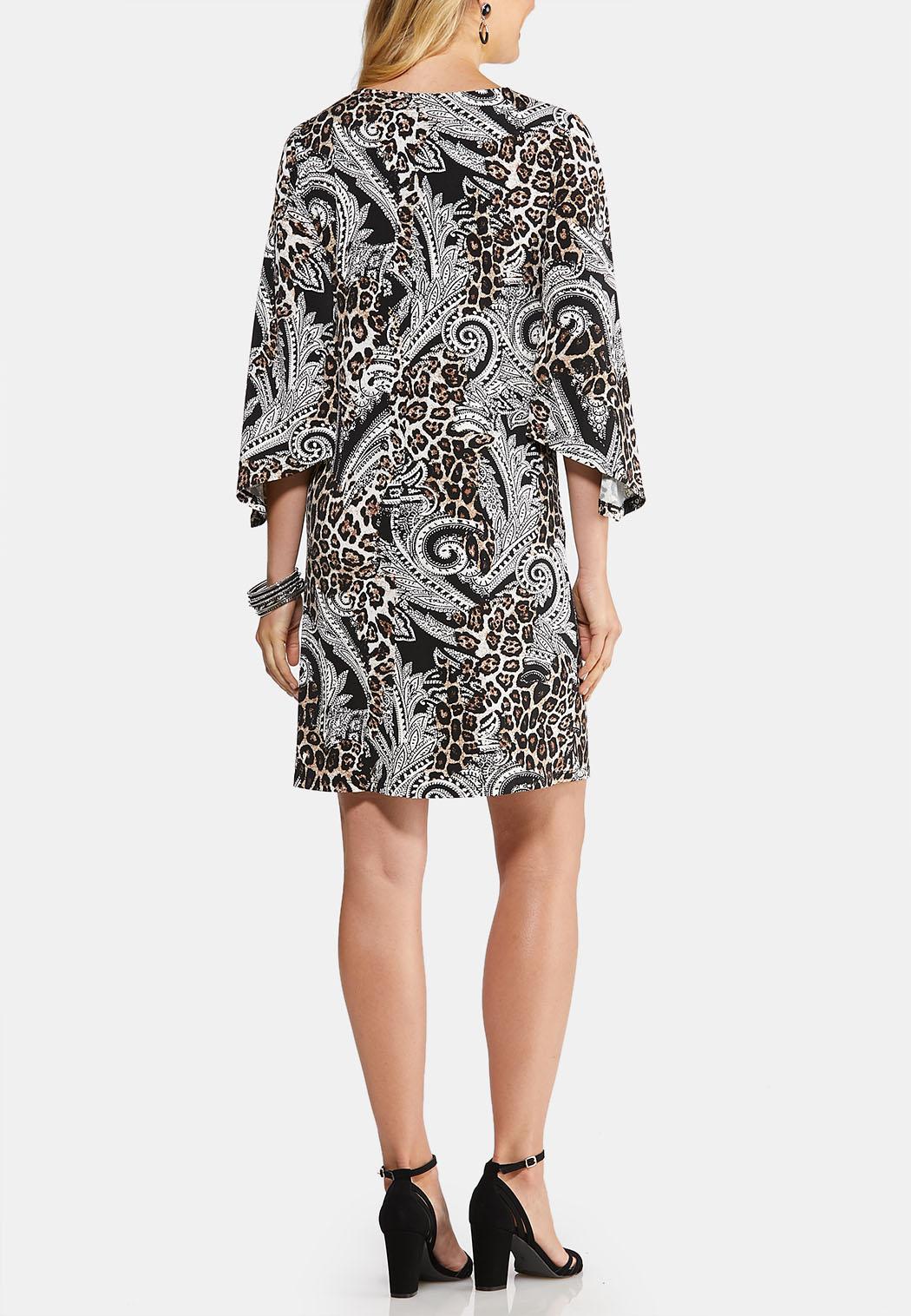 Plus Size Textured Animal Paisley Dress (Item #43918016)