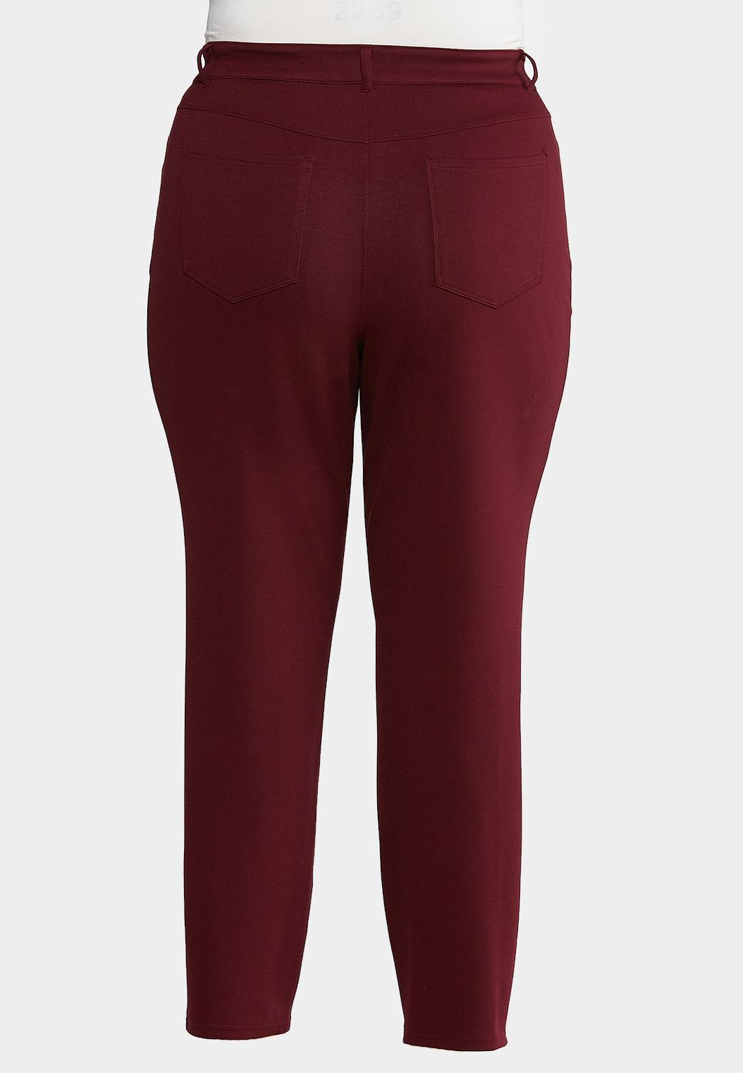 Plus Size Skinny Leg Ponte Pants (Item #43918132)
